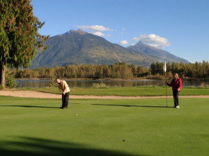 Golf course at Glacier House Hotel and Resort.