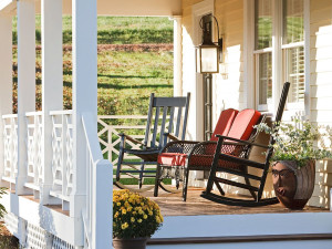 Front porch at The Inn at Willow Grove.