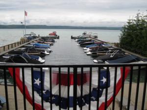 Lake view at Glen Craft Marina and Resort.