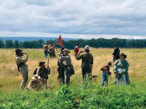 Gettysburg historical reenactments near Eisenhower Hotel & Conference Center.