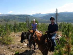 Horseback riding at Vista Verde Ranch.