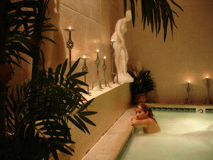 Spa hot tub at Town and Country Resort & Convention Center.