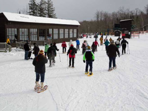 Snowshoeing at Mountain View Lodges.