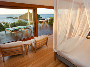 Guest room at Lizard Island.