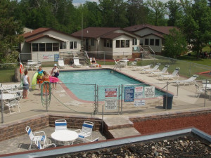 Outdoor pool at Wishbone Resort.