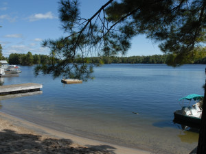 Beach at Blue Mountain Lodge in the Kawarthas
