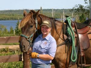Horseback riding at Gunflint Lodge.