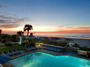 Outdoor pool at Ocean Isle Inn.