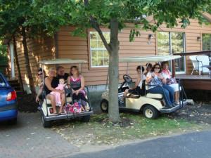 Golf cart rentals at Island Club Rentals.