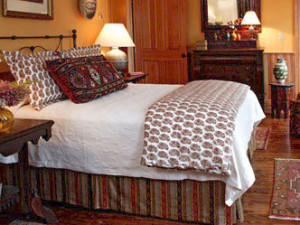 Guest bedroom at Hotel Mountain Brook.