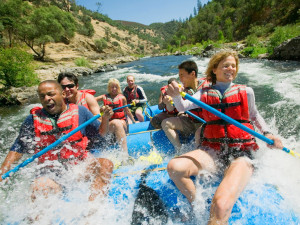 River rafting near Greybeard Rentals.