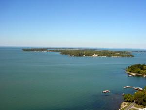 Lake Erie near Vineyard Bed & Breakfast.