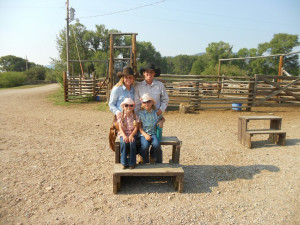 Family at Vee-Bar Guest Ranch.