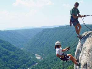 Rock climbing at ACE Adventure Resort.