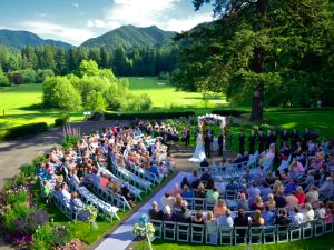 Outdoor wedding at The Resort at the Mountain.
