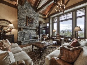 Rental living room at Big Sky Luxury Rentals.