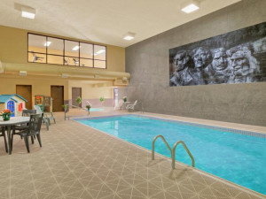 Indoor pool at Rushmore Express Inn & Family Suites.