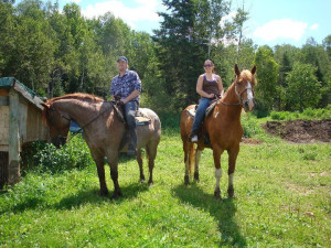 Horseback riding at The Couples Resort.