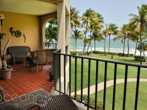 Balcony view at Oceano Beach Resort.