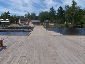 Resort view at Wilsons on Moosehead Lake.