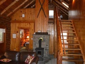 Cabin interior at Cheat River Lodge.