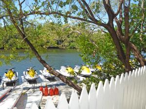 Water jet skis at Parrot Key Resort.