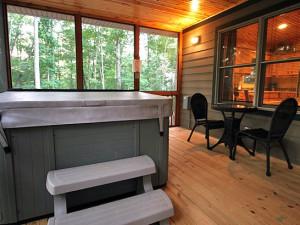 Cabin porch at Sautee Resorts.