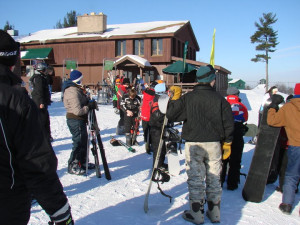 Skiing at Manilak Resort.