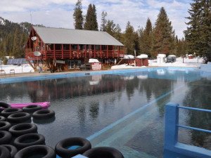 Natural Geothermal Hot Spring Pool at Silver Creek Plunge