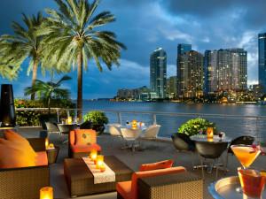 Patio view at Mandarin Oriental, Miami.