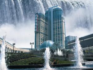 Exterior view of Niagara Fallsview Casino Resort.