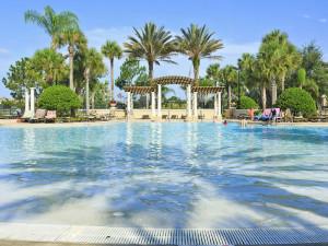 Vacation rental public pool at SkyRun Vacation Rentals - Orlando, Florida.