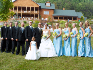 Wedding party at House Mountain Inn.