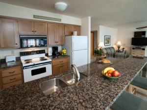 Kitchen view at Bay Shore Inn.