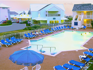 Outdoor pool area at The Villas of Hatteras Landing.