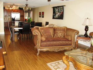 Resort rental living room at Travel Resort Services, Inc.