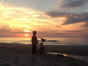 The beach at Beach Combers Vacation Rentals.