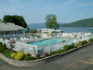 Outdoor pool at Marine Village Resort.