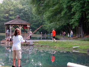 Fishing at Yogi at Shangri-La.