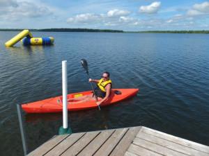 Kayaking at Timber Trails Resort.