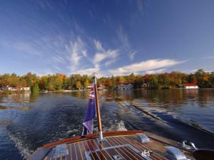 Boating at Severn Lodge.