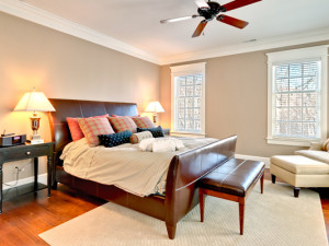 Vacation rental bedroom at The Private Collection.