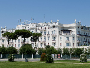 Exterior view of Grand Hotel of Rimini.