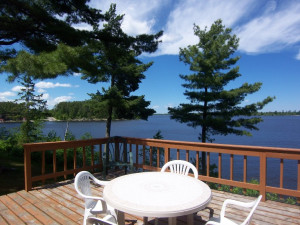 Cabin deck at Kabetogama Lake Association.