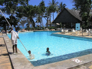 Outdoor pool at Africana Sea Lodge.