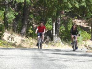 Biking at Ripple Creek Cabins.