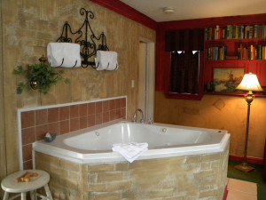 Out of Africa jacuzzi at The Garden Walk Bed & Breakfast Inn.