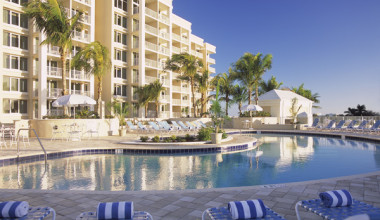 Outdoor pool at Marco Beach Ocean Resort.