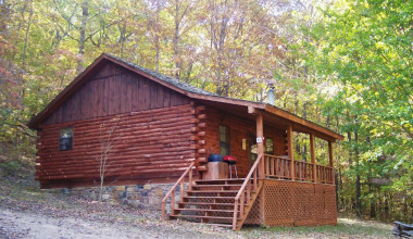 Cabin Exterior at Red Bud Valley Resort