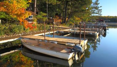Boats at White Birch Village Resort.
